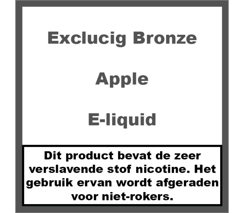 Bronze Label Apple