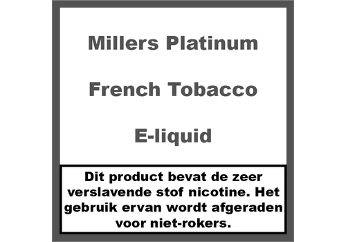 Millers Platinum Line French Tobacco