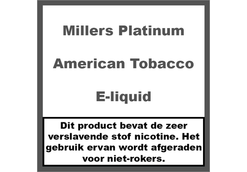 Millers Platinum Line American Tobacco