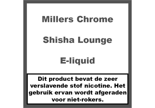 Millers Chrome Line Shisha Lounge