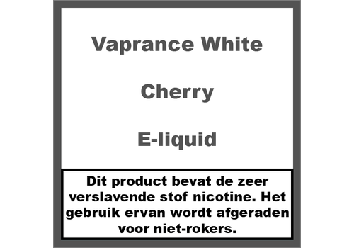 Vaprance White Label Cherry
