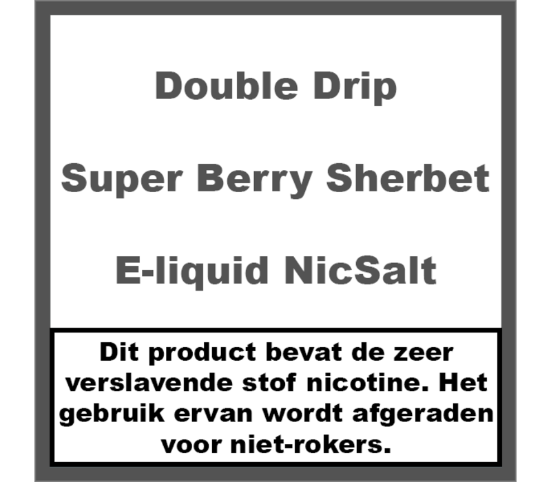 Super Berry Sherbet Nic Salt
