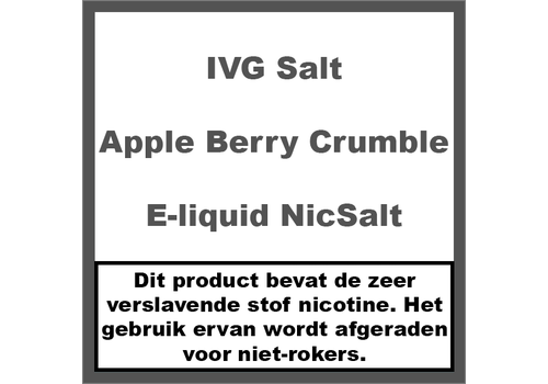 IVG Apple Berry Crumble NS20