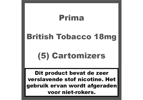 Prima Cartomiser British Tobacco 18mg