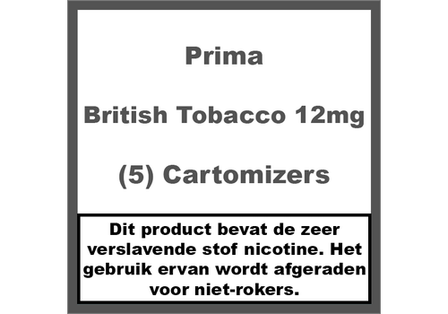 Prima Cartomiser British Tobacco 12mg