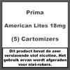 Prima Cartomiser American Lites 18mg