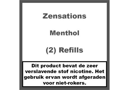 ZenSations Menthol Refill Cartridge