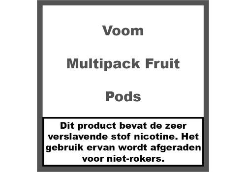 Voom Flavour Multipack Fruit Pods