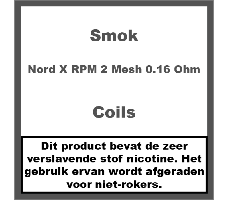 Nord X Coils RPM 2 Mesh 0.16Ω