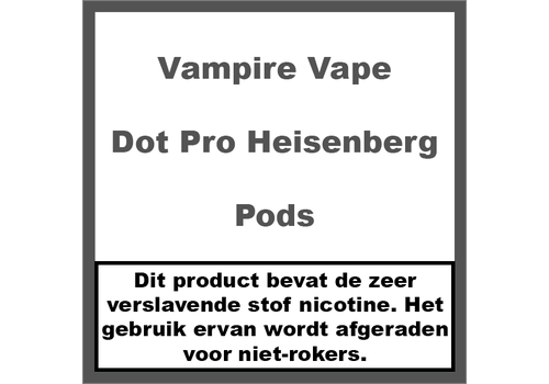 Vampire Vape Dot Pro Heisenberg Pods