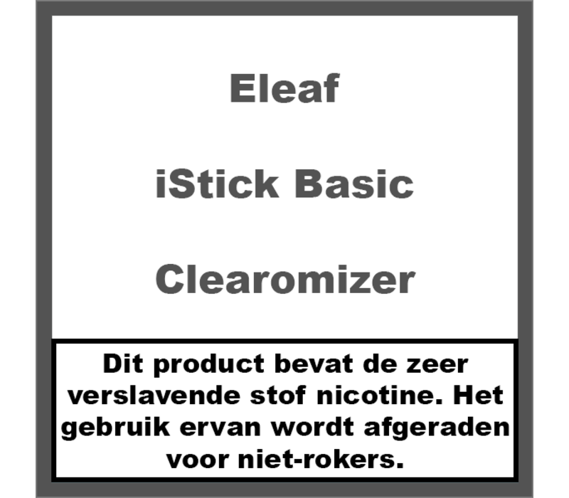 iStick Basic Clearomizer