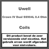Uwell Crown IV Coils - Dual SS904L - 0.4 Ohm