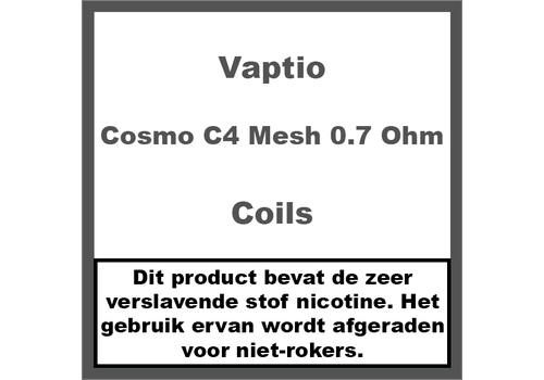 Vaptio Cosmo C4 Mesh 0,7 Ohm Coils