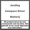 JustFog Compact Batterij RVS