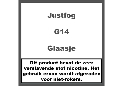 JustFog G14 Reserve Glaasje