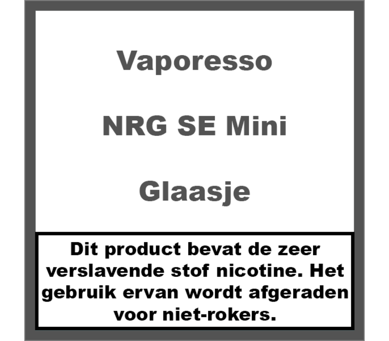 NRG SE Mini Glaasje (2ml)