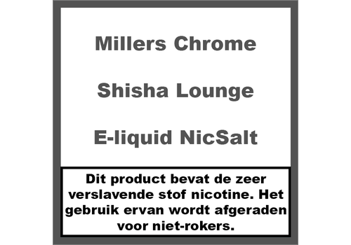 Millers Chrome Line Shisha Lounge NS