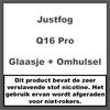 JustFog Q16 Pro Reserve Glaasje + Metalen stuk
