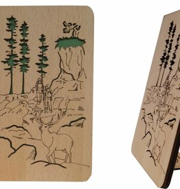 Wood greeting card, Hiking coupon