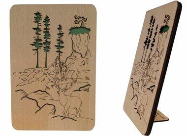 Grußkarten aus Holz