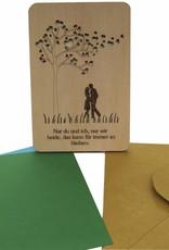 Holzkarte, Valentinskarte, Hochzeitskarte, Liebe, Herz, N602
