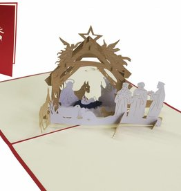 Pop up christmas card, Crib