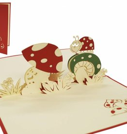 Pop up birthday card, lady bug