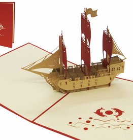 Pop up birthday card, pirate ship
