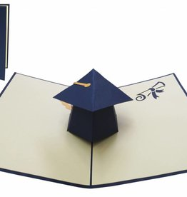Pop up greeting card, doctoral cap