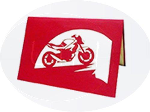 Pop Up 3D Karte, Geburtstagskarten, Glückwunsch karte, Motorrad, N158