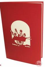 Flower cart (red)
