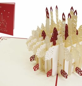 Pop up birthday card, birthday cake (Big size)