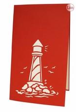 Pop Up 3D Karte, Geburtstagskarte, Glückwunsch karte, Gutschein, Leuchtturm, N120