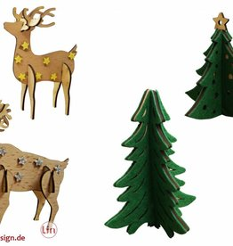 Decoration - DIY Pinetrees and Reindeers