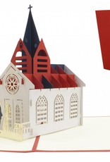 Pop up wedding card, Church, wedding invitations, love, 3D design for weddings, No. 277