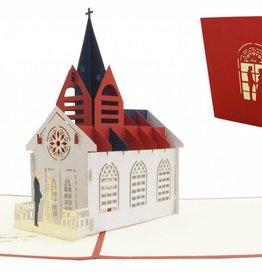 Pop Up 3D Karte, Hochzeitskarte, Hochzeitseinladung, Hochzeitskirche, N277