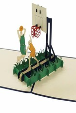 Pop up card, 3D Greetings Card, Basketball, Sports, No. 269