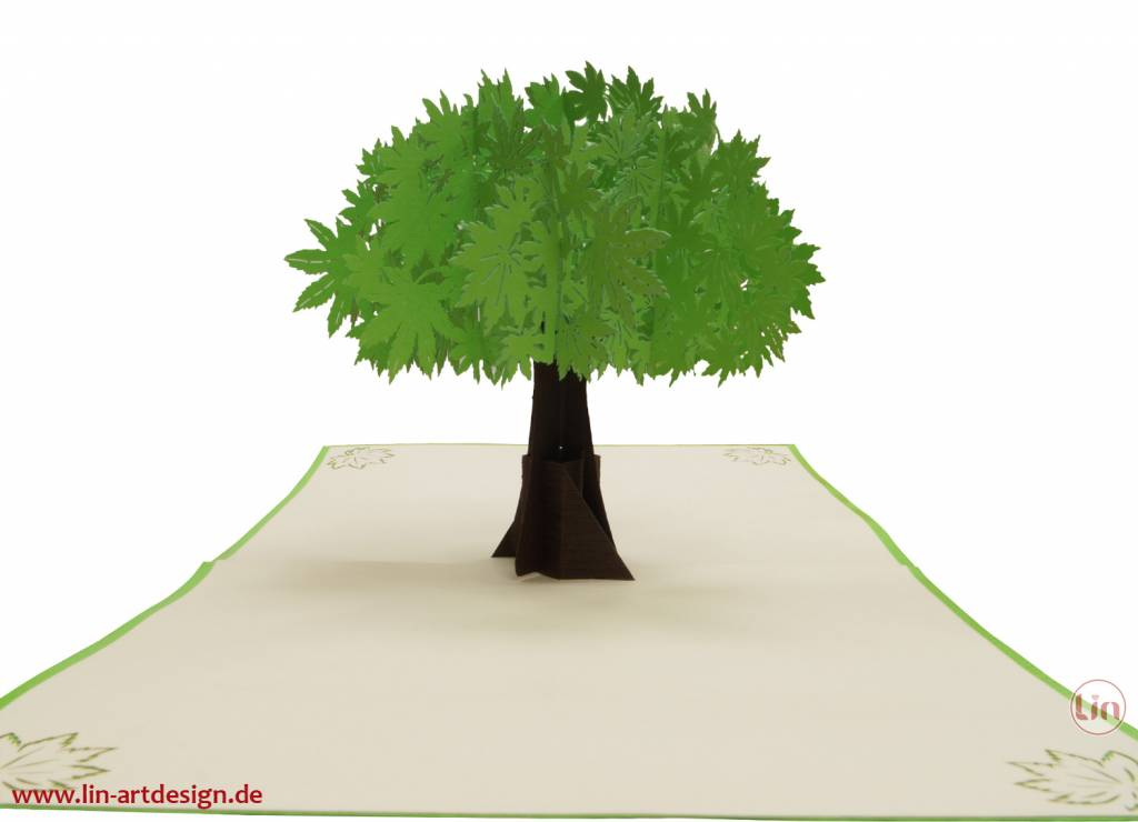 Pop Up Card, 3D Greeting Card, Mother's Day Card, Birthday, Tree, Leaves, Nature, Nr. 718