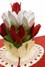 Pop Up 3D Karte Deluxe, Hochzeitskarte, Glückwunschkarte Muttertag, Blumen, Tulpen, N720