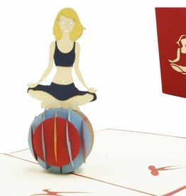 Pop Up Card - Woman doing Yoga (No. 268)