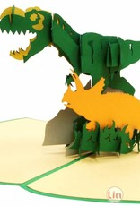 3D Pop Up card, Dinosaurs, Birthday card, School Enrollment, Party Invitaiton, Dinos, No. 292