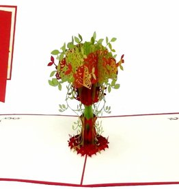 Pop up card, rose in vase (var 4)