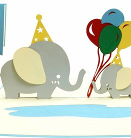 Pop Up Card - Birthday Elephants (No. 288)