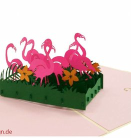 Pop Up Card - Flamingos (No. 289)