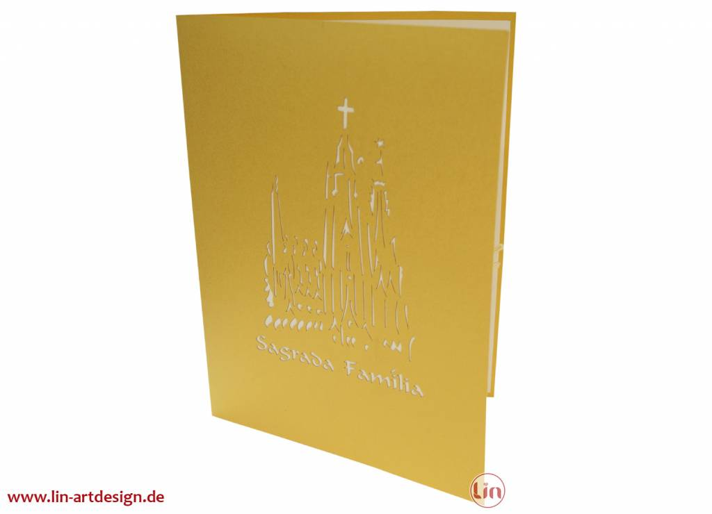 Pop up card Spain, Greeting Card, Travel Coupon, Birthday Card, Barcelona, No. 266