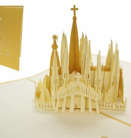 Pop up card Spain, Greeting card travel coupon or birthday card,  Barcelona N266