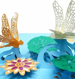 Pop Up Card - Pond with Dragonflies (No. 287)