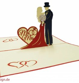 Pop Up Card - Bridal Couple / Mr. & Mrs. (No. 311)