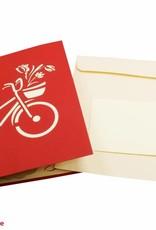 Pop Up 3D Karte, Geburtstagskarte, Glückwunschkarte Muttertag, Tulpenkorb, N322