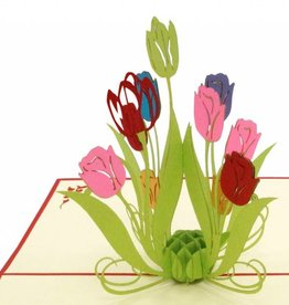 Pop Up Karte - Tulpen (Nr. 337)
